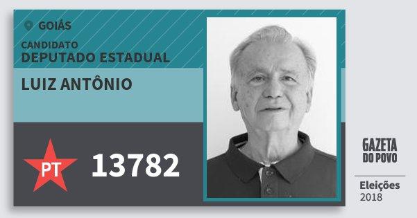 Santinho Luiz Antônio 13782 (PT) Deputado Estadual | Goiás | Eleições 2018