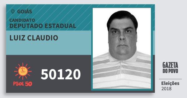 Santinho Luiz Claudio 50120 (PSOL) Deputado Estadual | Goiás | Eleições 2018