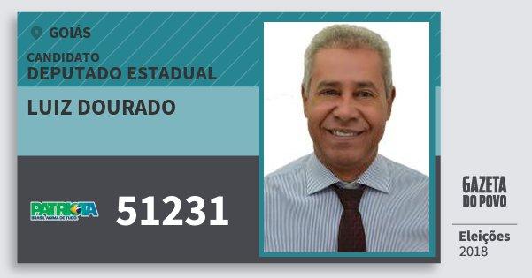 Santinho Luiz Dourado 51231 (PATRI) Deputado Estadual | Goiás | Eleições 2018