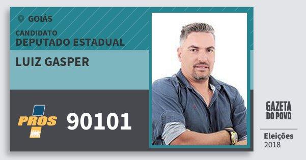 Santinho Luiz Gasper 90101 (PROS) Deputado Estadual | Goiás | Eleições 2018
