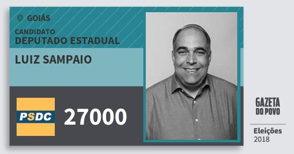 Santinho Luiz Sampaio 27000 (DC) Deputado Estadual | Goiás | Eleições 2018