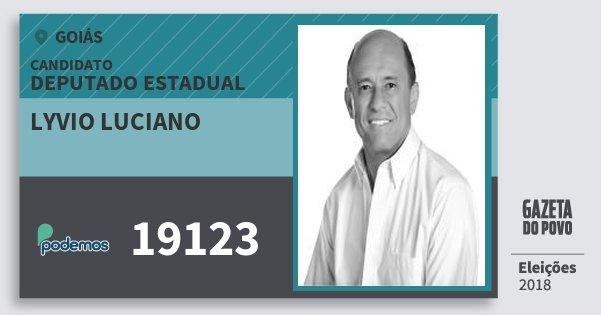 Santinho Lyvio Luciano 19123 (PODE) Deputado Estadual | Goiás | Eleições 2018