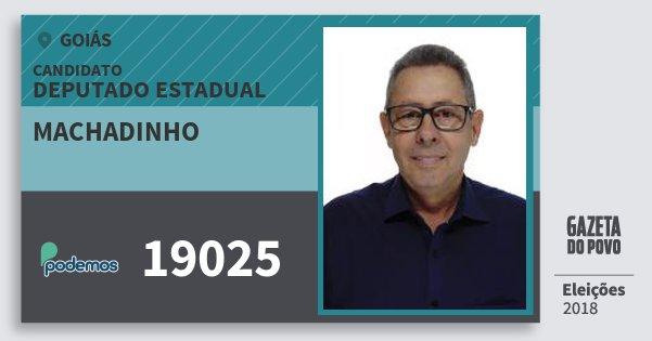 Santinho Machadinho 19025 (PODE) Deputado Estadual | Goiás | Eleições 2018