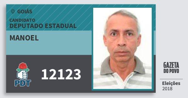 Santinho Manoel 12123 (PDT) Deputado Estadual | Goiás | Eleições 2018