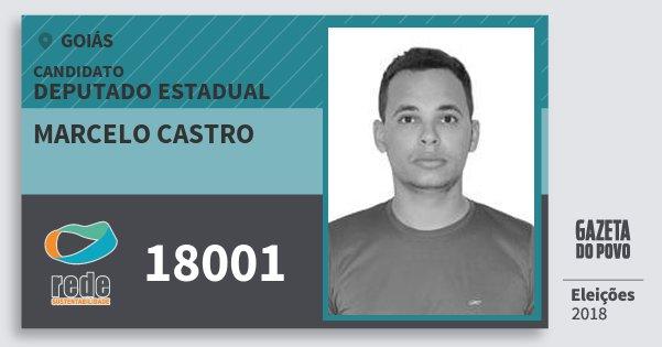 Santinho Marcelo Castro 18001 (REDE) Deputado Estadual | Goiás | Eleições 2018