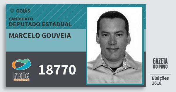 Santinho Marcelo Gouveia 18770 (REDE) Deputado Estadual | Goiás | Eleições 2018