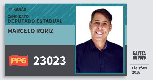 Santinho Marcelo Roriz 23023 (PPS) Deputado Estadual | Goiás | Eleições 2018