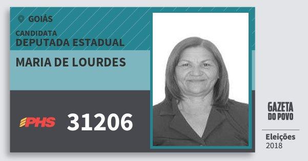 Santinho Maria de Lourdes 31206 (PHS) Deputada Estadual | Goiás | Eleições 2018