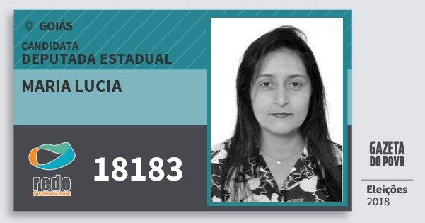 Santinho Maria Lucia 18183 (REDE) Deputada Estadual | Goiás | Eleições 2018