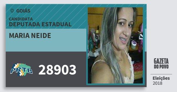 Santinho Maria Neide 28903 (PRTB) Deputada Estadual | Goiás | Eleições 2018