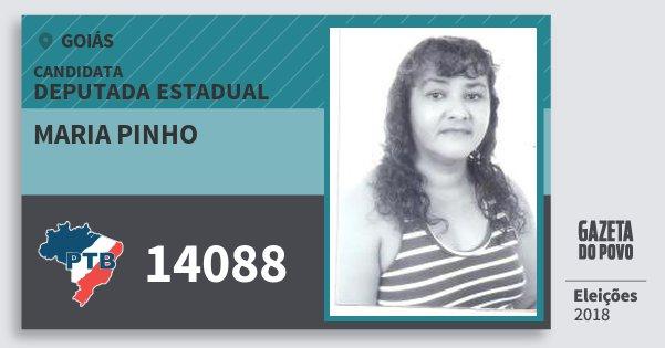 Santinho Maria Pinho 14088 (PTB) Deputada Estadual | Goiás | Eleições 2018