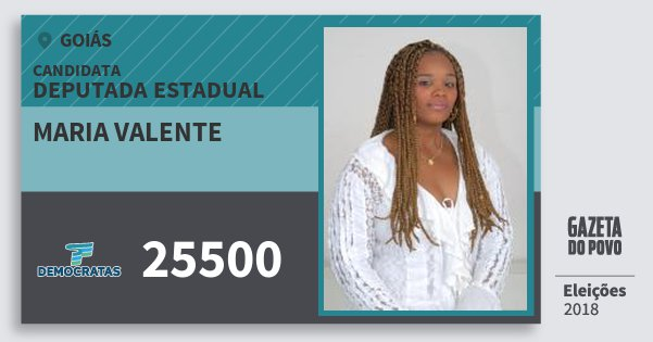 Santinho Maria Valente 25500 (DEM) Deputada Estadual | Goiás | Eleições 2018