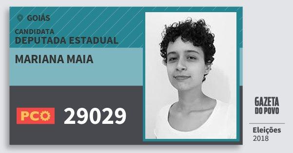 Santinho Mariana Maia 29029 (PCO) Deputada Estadual | Goiás | Eleições 2018