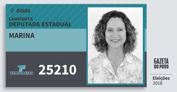 Santinho Marina 25210 (DEM) Deputada Estadual | Goiás | Eleições 2018