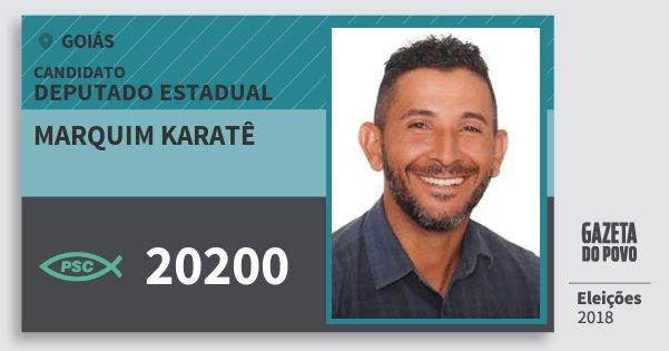 Santinho Marquim Karatê 20200 (PSC) Deputado Estadual | Goiás | Eleições 2018