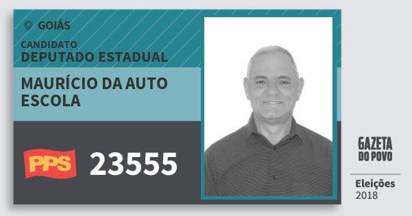 Santinho Maurício da Auto Escola 23555 (PPS) Deputado Estadual | Goiás | Eleições 2018