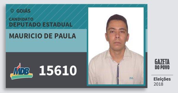 Santinho Mauricio de Paula 15610 (MDB) Deputado Estadual | Goiás | Eleições 2018