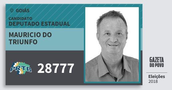 Santinho Mauricio do Triunfo 28777 (PRTB) Deputado Estadual | Goiás | Eleições 2018
