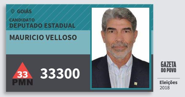 Santinho Mauricio Velloso 33300 (PMN) Deputado Estadual | Goiás | Eleições 2018