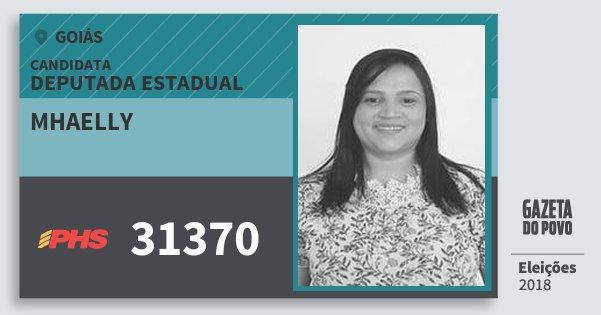 Santinho Mhaelly 31370 (PHS) Deputada Estadual | Goiás | Eleições 2018