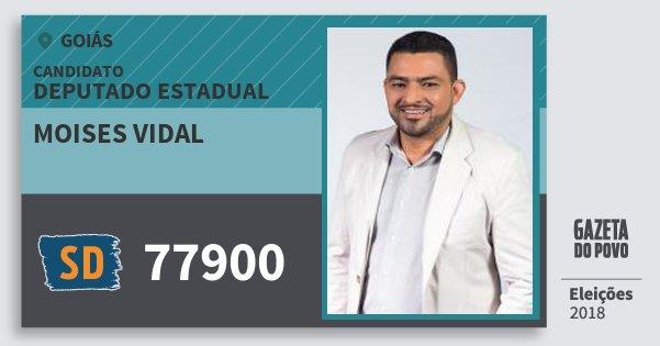 Santinho Moises Vidal 77900 (SOLIDARIEDADE) Deputado Estadual | Goiás | Eleições 2018