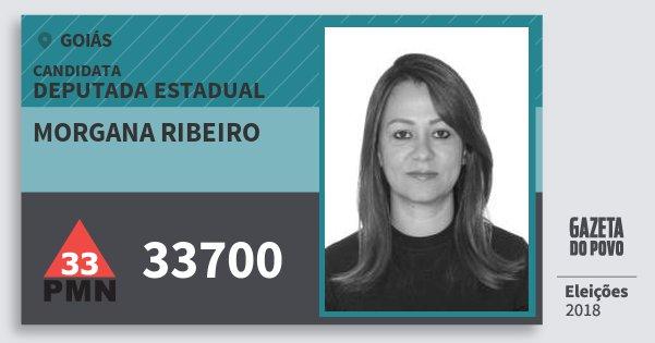 Santinho Morgana Ribeiro 33700 (PMN) Deputada Estadual | Goiás | Eleições 2018