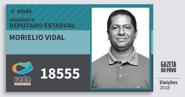 Santinho Morielio Vidal 18555 (REDE) Deputado Estadual | Goiás | Eleições 2018