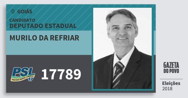 Santinho Murilo da Refriar 17789 (PSL) Deputado Estadual | Goiás | Eleições 2018