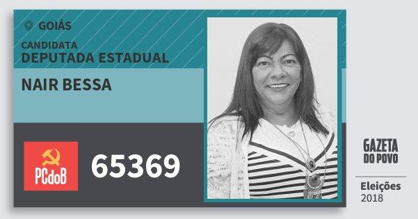 Santinho Nair Bessa 65369 (PC do B) Deputada Estadual | Goiás | Eleições 2018