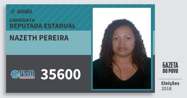 Santinho Nazeth Pereira 35600 (PMB) Deputada Estadual | Goiás | Eleições 2018
