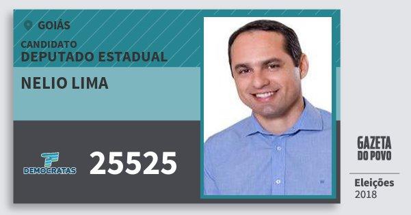 Santinho Nelio Lima 25525 (DEM) Deputado Estadual | Goiás | Eleições 2018