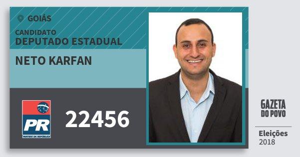 Santinho Neto Karfan 22456 (PR) Deputado Estadual | Goiás | Eleições 2018