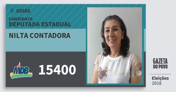 Santinho Nilta Contadora 15400 (MDB) Deputada Estadual | Goiás | Eleições 2018