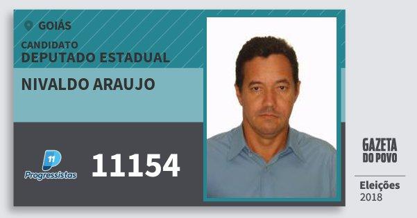 Santinho Nivaldo Araujo 11154 (PP) Deputado Estadual | Goiás | Eleições 2018