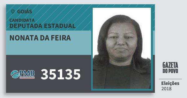 Santinho Nonata da Feira 35135 (PMB) Deputada Estadual | Goiás | Eleições 2018