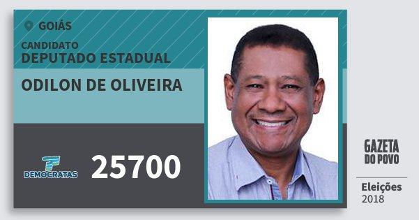 Santinho Odilon de Oliveira 25700 (DEM) Deputado Estadual | Goiás | Eleições 2018