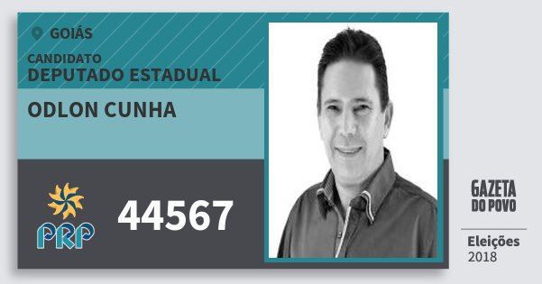 Santinho Odlon Cunha 44567 (PRP) Deputado Estadual | Goiás | Eleições 2018