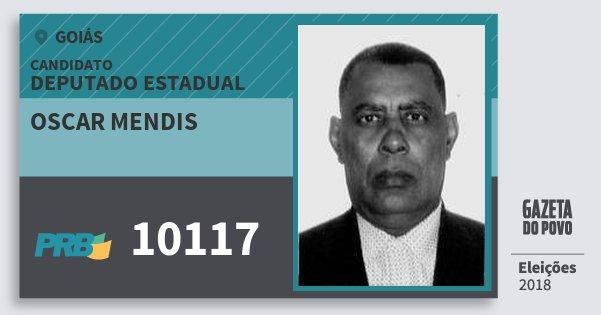 Santinho Oscar Mendis 10117 (PRB) Deputado Estadual | Goiás | Eleições 2018