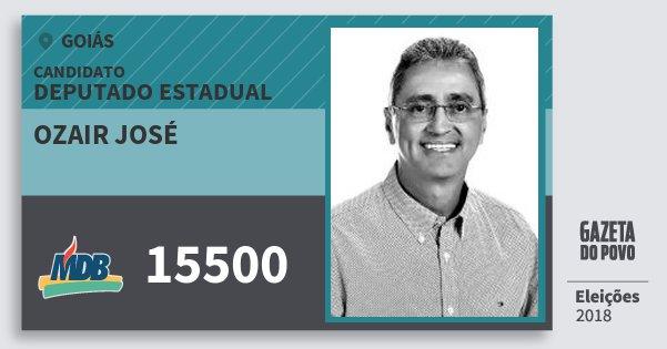 Santinho Ozair José 15500 (MDB) Deputado Estadual | Goiás | Eleições 2018
