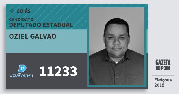 Santinho Oziel Galvao 11233 (PP) Deputado Estadual | Goiás | Eleições 2018