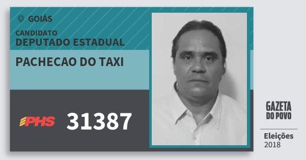 Santinho Pachecao do Taxi 31387 (PHS) Deputado Estadual | Goiás | Eleições 2018