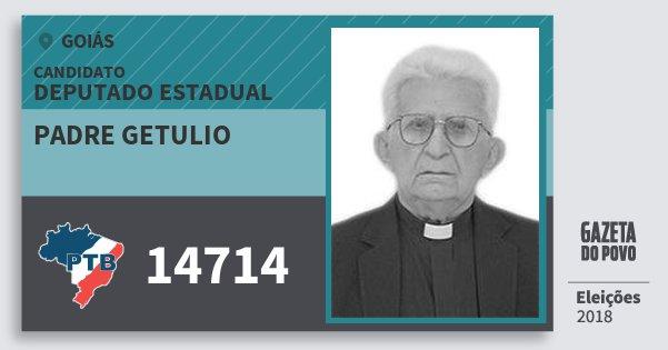 Santinho Padre Getulio 14714 (PTB) Deputado Estadual | Goiás | Eleições 2018