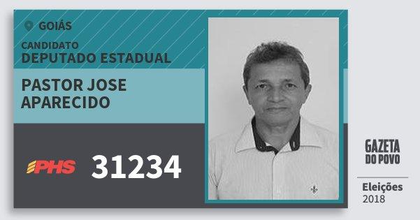 Santinho Pastor Jose Aparecido 31234 (PHS) Deputado Estadual | Goiás | Eleições 2018