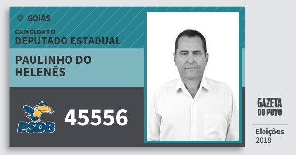 Santinho Paulinho do Helenês 45556 (PSDB) Deputado Estadual | Goiás | Eleições 2018