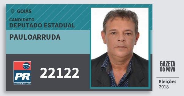 Santinho Pauloarruda 22122 (PR) Deputado Estadual | Goiás | Eleições 2018