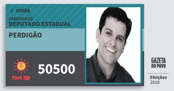 Santinho Perdigão 50500 (PSOL) Deputado Estadual | Goiás | Eleições 2018