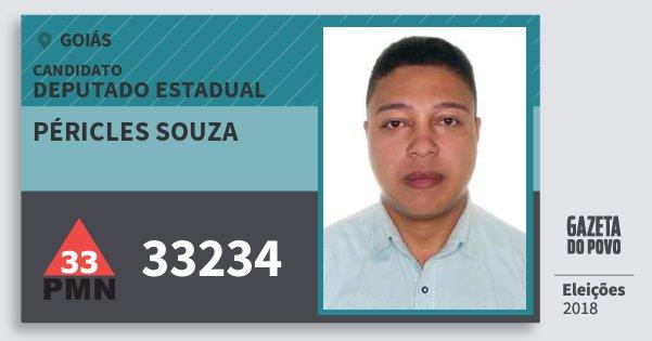 Santinho Péricles Souza 33234 (PMN) Deputado Estadual | Goiás | Eleições 2018