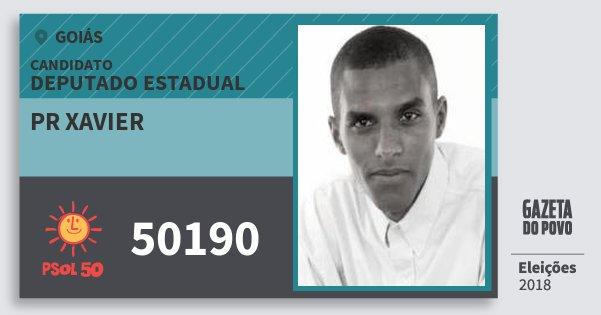 Santinho Pr Xavier 50190 (PSOL) Deputado Estadual | Goiás | Eleições 2018
