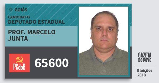 Santinho Prof. Marcelo Junta 65600 (PC do B) Deputado Estadual | Goiás | Eleições 2018
