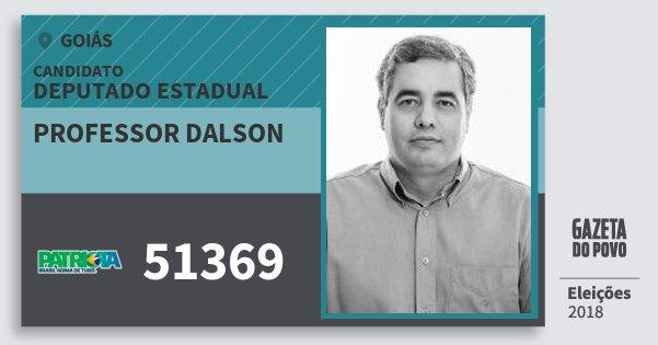 Santinho Professor Dalson 51369 (PATRI) Deputado Estadual | Goiás | Eleições 2018